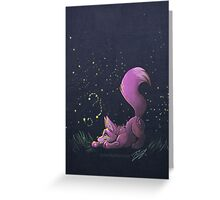 Firefly Fox - Pink Greeting Card