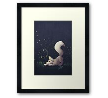 Firefly Fox - White Framed Print