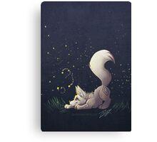 Firefly Fox - White Canvas Print