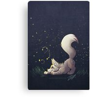 Firefly Fox - White Canvas Print