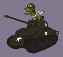 T-Rex in a Tank Kids Tee