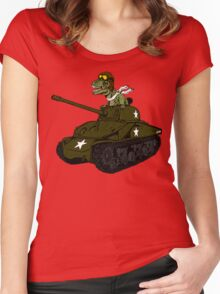 T-Rex in a Tank Women's Fitted Scoop T-Shirt