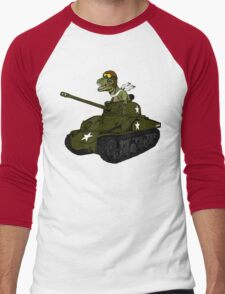 T-Rex in a Tank Men's Baseball ¾ T-Shirt
