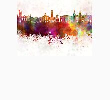 Aberdeen skyline in watercolor background Unisex T-Shirt