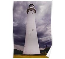 Lighthouse Skies Poster