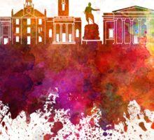 Aberdeen skyline in watercolor background Sticker