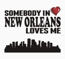 Somebody In New Orleans Loves Me Kids Tee