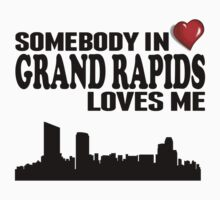 Somebody In Grand Rapids Loves Me Kids Tee