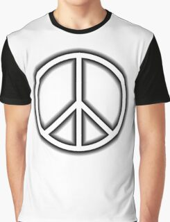 Ban the Bomb, Peace, Old School, Symbol, CND, Trident, Campaign for Nuclear Disarmament, White Graphic T-Shirt