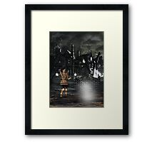 The Eerie Mansion Framed Print