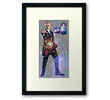 Galactic Peter Capaldi Framed Print