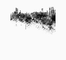 Abu Dhabi skyline in black watercolor Unisex T-Shirt