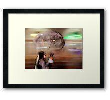 Ghost Umbrella Framed Print