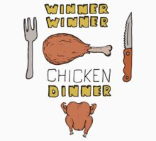 Winner Winner Chicken Dinner: Loud and Proud Rotisserie Chicken Windfall Kids Tee