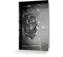 Another face in the street Greeting Card