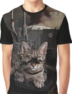 Steampunk Sid Kitten Overlord Graphic T-Shirt
