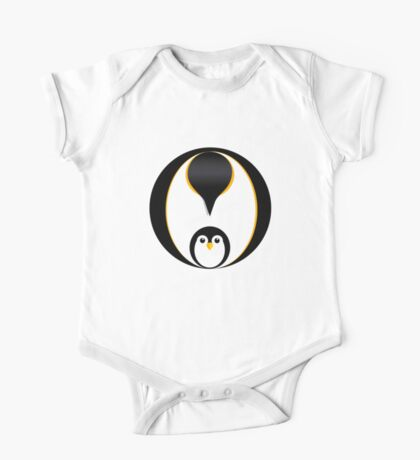 'In Pole Position' - Penguin T-Shirt One Piece - Short Sleeve