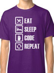 Eat Sleep Code Repeat Classic T-Shirt