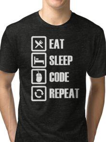 Eat Sleep Code Repeat Tri-blend T-Shirt