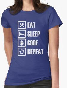 Eat Sleep Code Repeat Womens Fitted T-Shirt