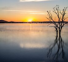 sunrise at lake fyans by ketut suwitra