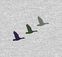 Three Tartan Flying Ducks T-Shirt Mens V-Neck T-Shirt