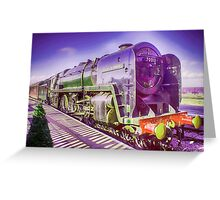 Oliver Cromwell Steam Locomotive Greeting Card