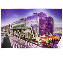 Oliver Cromwell Steam Locomotive Poster