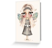 vintage hearts and wings Greeting Card