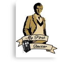 My first Doctor (Who) fifth 5th Peter Davison Canvas Print