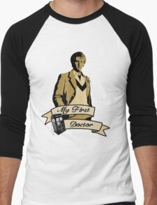 Doctor Who - My first Doctor (Who) fifth 5th Peter Davison Men's Baseball ¾ T-Shirt