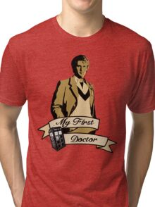 Doctor Who - My first Doctor (Who) fifth 5th Peter Davison Tri-blend T-Shirt