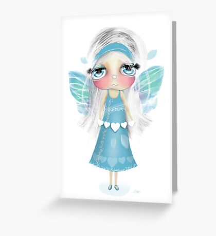 paper hearts and pretty wings Greeting Card