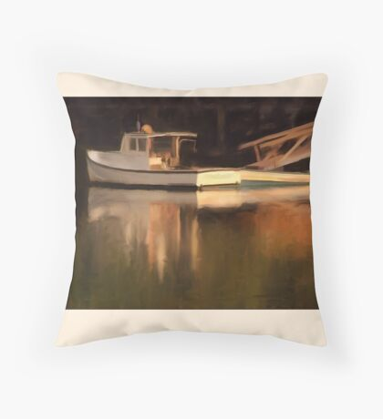 Reflections, Barter Island, Maine Throw Pillow
