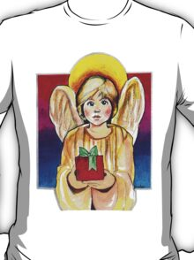 Child, Angel in gold with gift T-Shirt
