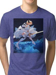 Fate Series: Saber Wallpaper Poster 2 Tri-blend T-Shirt