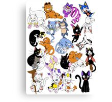 Fandom Cat Nap Canvas Print