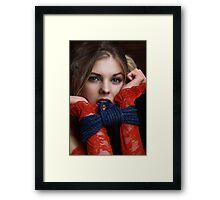 Bite me! Beauty Portrait - Fine Art of Bondage Framed Print