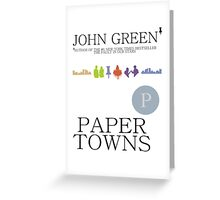 An Abundance of Paper Towns Greeting Card