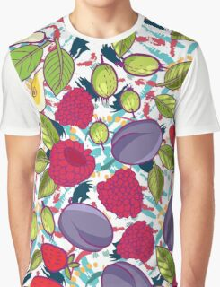 Tribal and Sweet berries seamless Graphic T-Shirt