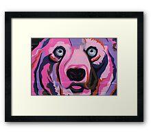 Melbourne Graffiti Street Art Pink Bear Framed Print