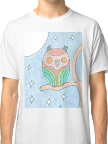 Colourful Owl tee and stickers Classic T-Shirt