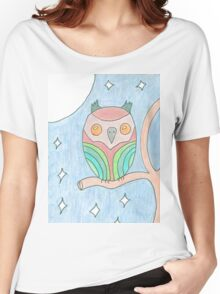Colourful Owl tee and stickers Women's Relaxed Fit T-Shirt