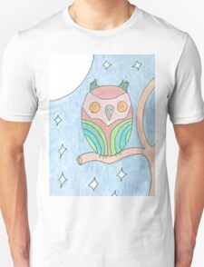 Colourful Owl tee and stickers T-Shirt