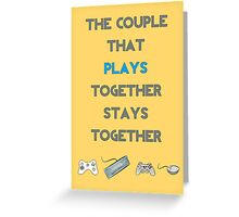 Couples that Play Greeting Card