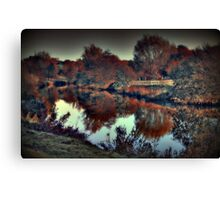 An Autumn afternoon at Teston  Canvas Print
