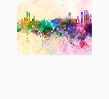Abu Dhabi skyline in watercolor background Unisex T-Shirt