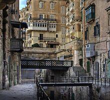 Old bridges --- Valletta Malta by Edwin  Catania