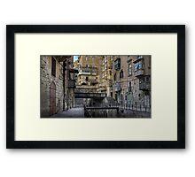 Old bridges --- Valletta Malta Framed Print