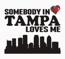 Somebody In Tampa Loves Me Kids Tee